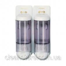 Дозатор жидкого мыла пластик прозрачный  2Х170мл