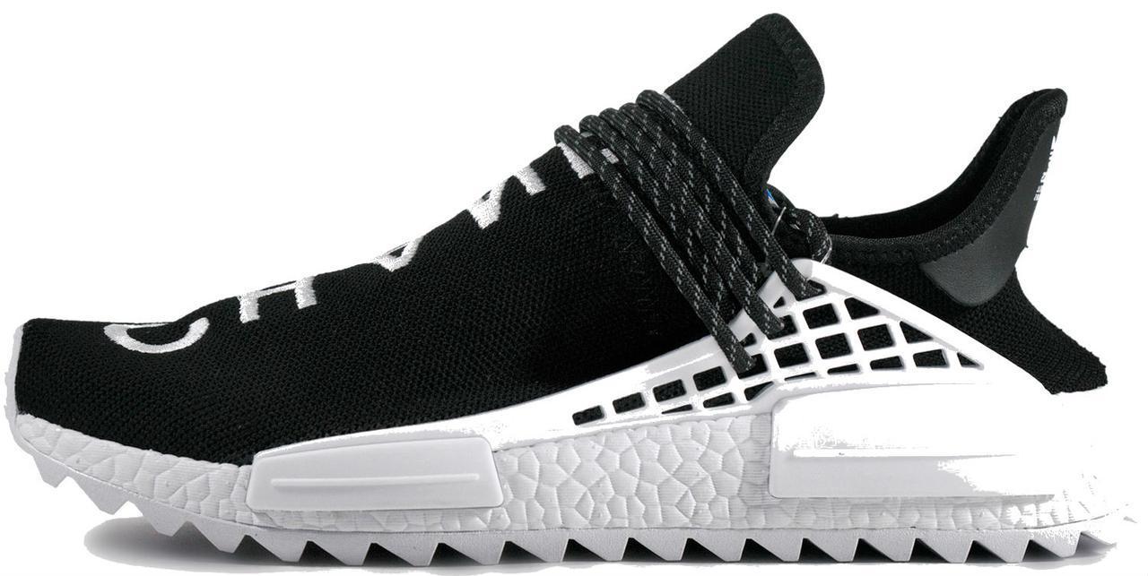 buy online a520b aa70d Adidas NMD Human Race Pharrell Chanel Black/White | кроссовки мужские и  женские; черные/черно-белые; летние