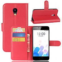 Чехол-книжка Litchie Wallet для Meizu M5C Красный