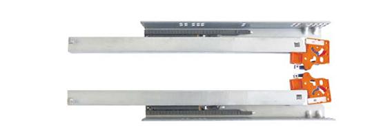 Направляющие полного выдвижения скрытого монтажа LinkenSystem  (35 кг) L=600 (дсп 16 мм) с доводом + крепление