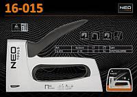Степлер алюминиевый под скобы J/53, 6-10мм., NEO 16-015
