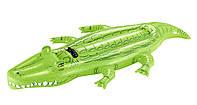 Плот надувной Крокодил с ручками, 203*117  см, надувные игрушки