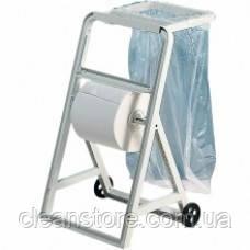 Держатель рулонов на колесах с рамкой для мусорного пакета