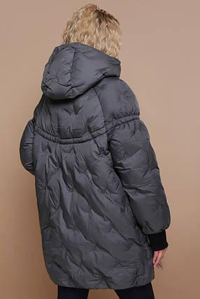 Стильный Зимний пуховик теплый женский размеры 42-52, фото 2