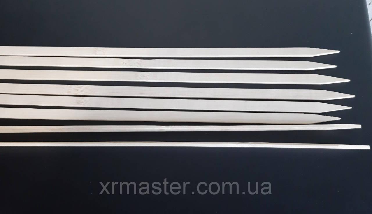Шпажки бамбуковые плоские 40см ширина 1см (25шт)