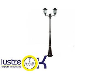 Уличный фонарь Парковый светильник LEMANSO PL 1102 античное золото