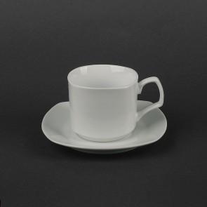 Чашка белая для американо 180 мл + блюдце  HLS (HR1313)