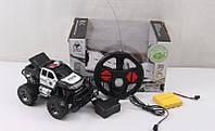 Джип Police радиоуправляемый, пульт радиоуправления в виде рулевого колеса, фото 1