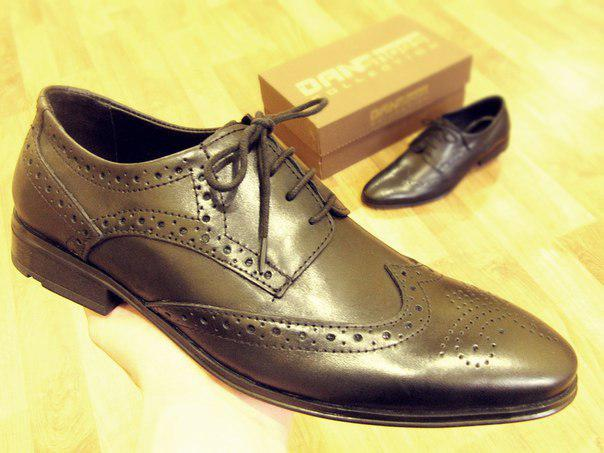 31c67a570 Туфли броги мужские черные натуральная глянцевая кожа - Магазин обуви Go-Go  Shoes в Киеве