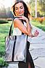 Шкіряна сумка модель 27 срібло флотар - наплак