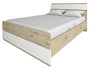 Кровать Лаура 1600 +ламели белый/дуб велингтон (Сокме)