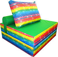 Бескаркасное кресло-кровать 100-100-90 см