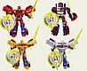 Трансформер Change robot, со световым эффектом, также в наборе дополнительные аксессуары, 4 вида