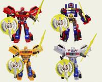 Трансформер Change robot, со световым эффектом, также в наборе дополнительные аксессуары, 4 вида, фото 1