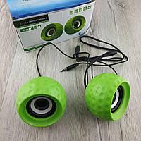 Мини колонки проводные Mini Digital Speaker Golf E-11 (green) для компьютера, ноутбука, планшета и пк