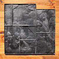 """Резиновый штамп """"Тёсаный камень №2"""" для печати по бетону 580*580 мм, фото 1"""