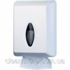 Диспенсер листовой туалетной бумаги белый