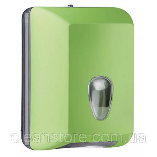 Держатель туалетной бумаги V складка  зелёный