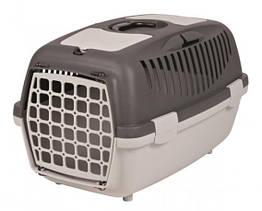 Переноска Trixie Capri 2 для собак и кошек, 37х34х55 см Серая (39821)