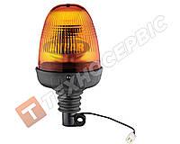 Маячок проблесковый оранжевый 24в под шток Турция TR 518-3