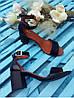 Босоножки на небольшом каблуке из натурально кожи черного цвета ELEGANTE BLACK LEATHER, фото 5