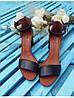 Босоножки на небольшом каблуке из натурально кожи черного цвета ELEGANTE BLACK LEATHER, фото 7