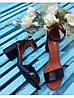 Босоножки на небольшом каблуке из натурально кожи черного цвета ELEGANTE BLACK LEATHER, фото 8