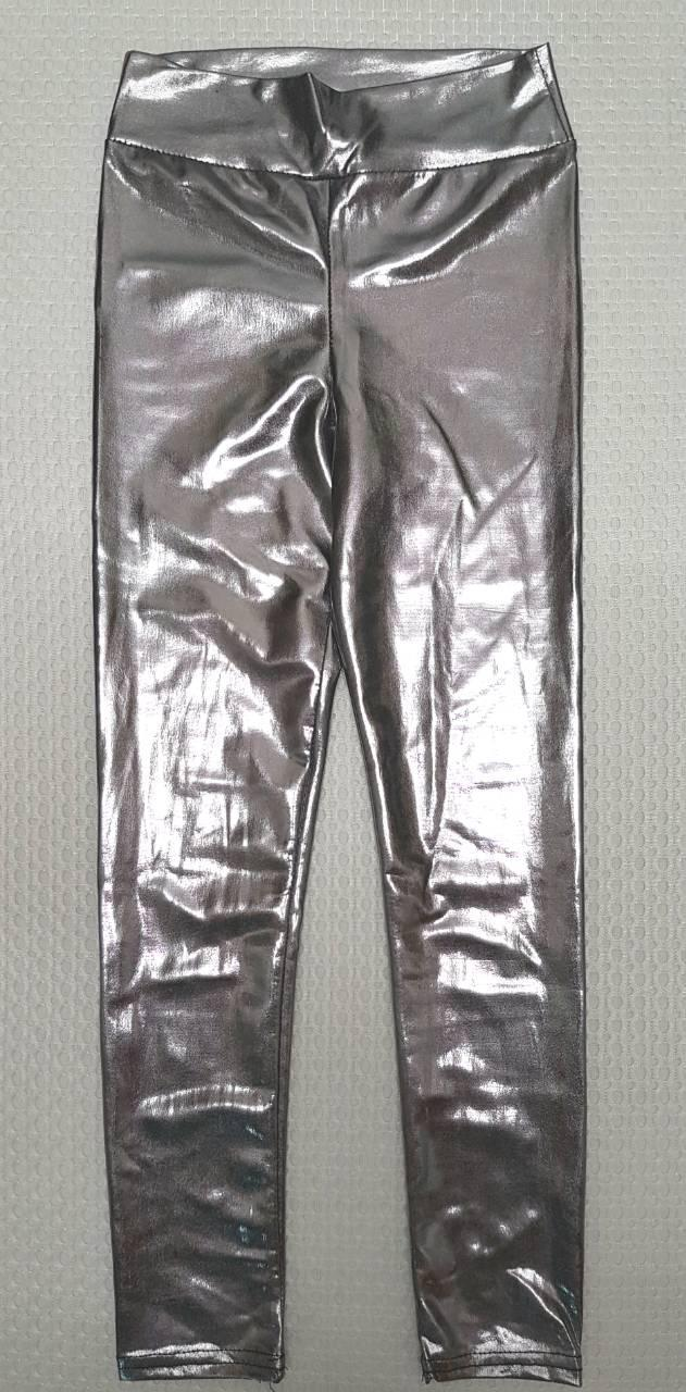 Модные лосины Весна р.110-128 серебро