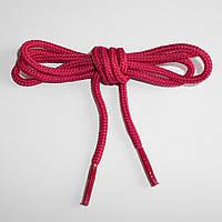 Шнурки обувные полиэфирные. Круглые, 0,8 м. (бордовые)