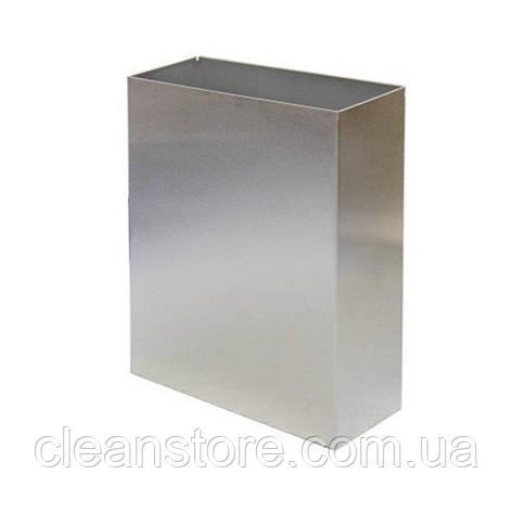 Корзина металева 25л полірована нержавіюча сталь, фото 2