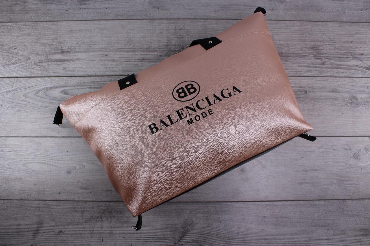 Женская сумка BALENCIAGA MODE (Баленсиага) - кожаная, большая, золотистая