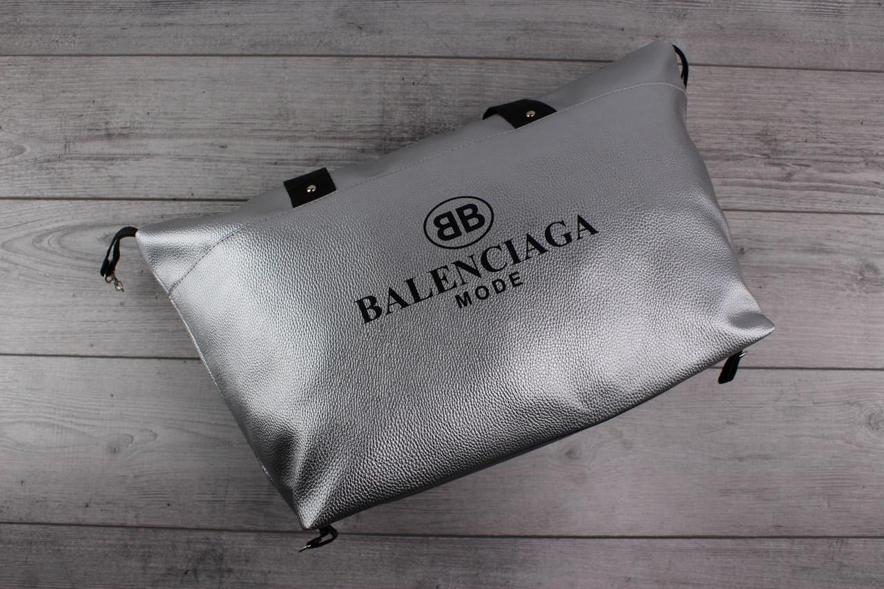 Женская сумка BALENCIAGA MODE (Баленсиага) - кожаная, большая, серая