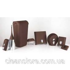 Держатель туалетной бумаги V складка  коричневый