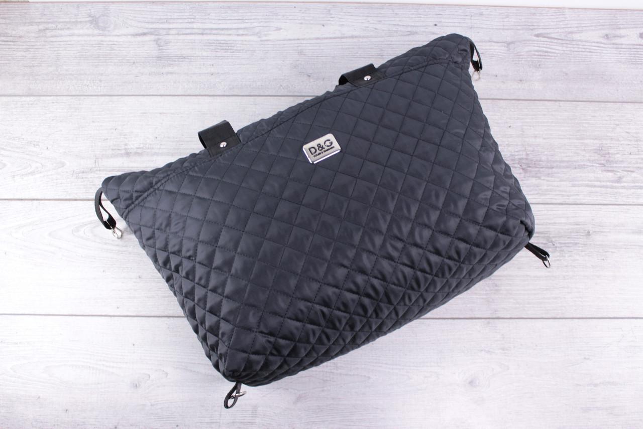 1a1eec219520 Женская сумка D&G Dolce & Gabbana (дольче габбана) - большая, черная,  стеганая