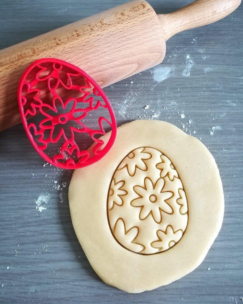 Вирубка каттер пасхальне яйце, вирубка яйце з бантиком, великодній вирубка для печива, Fortune3D