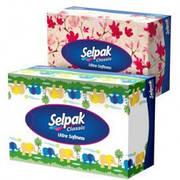 Салфетки Selpak в коробке 3х слойные,100 шт