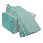 Полотенца  макулатурные зеленые V сложения  160 шт.(25 штящ.)