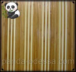 "Бамбуковые обои ""Полосатые 6+1/1"", 0,9 м, ширина планки 8 мм / Бамбукові шпалери"