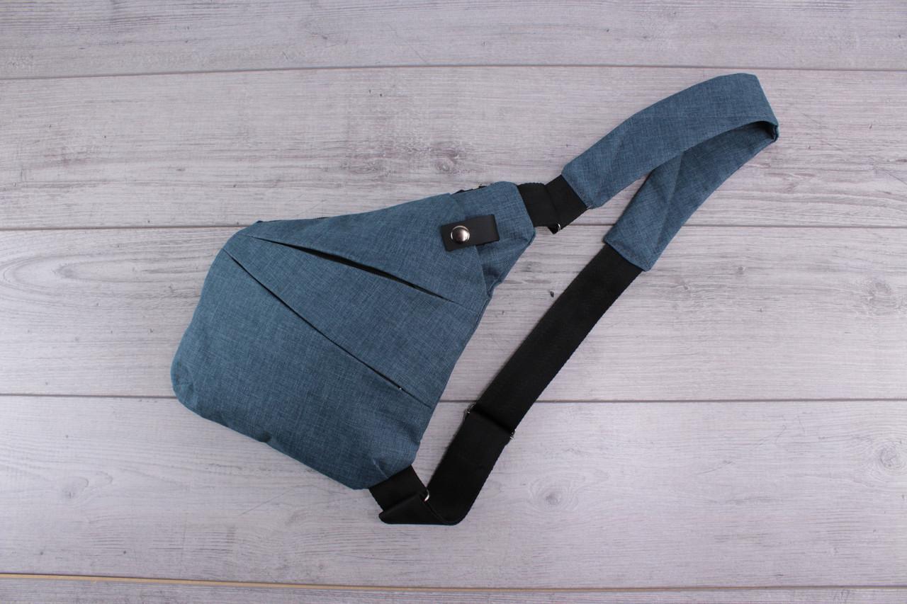 Сумка наплечная, городская сумка на плечо, спортивная сумка, небольшая, синяя