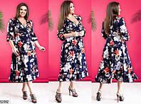 Женское летнее легкое платье софт 50-60 размеров, 3 цвета