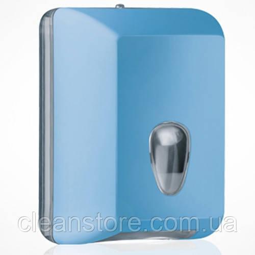 Держатель туалетной бумаги V складка голубой