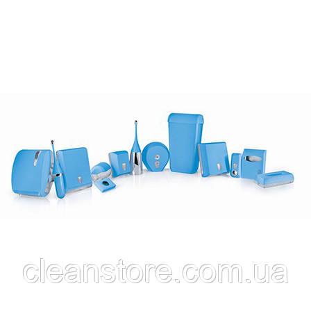Держатель туалетной бумаги V складка голубой, фото 2