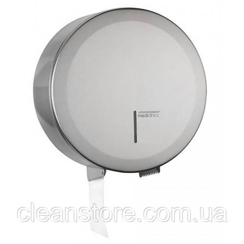 Держатель бумаги туалетной Джамбо  нержавеющая сталь марки AISI 304 сатинированная