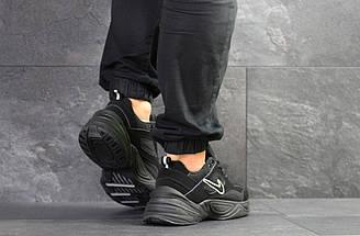Черные мужские кроссовки нубук 15\7527, фото 3