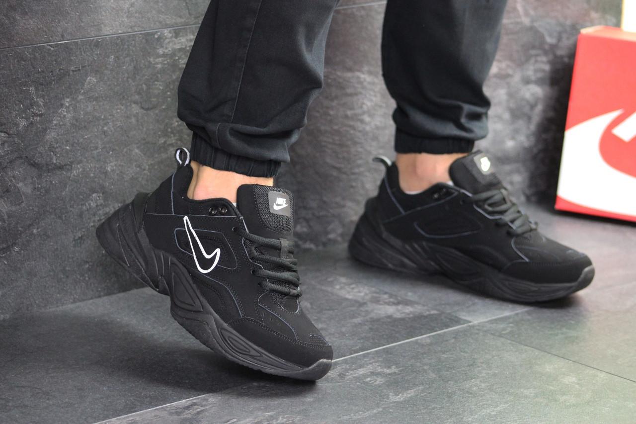 Черные мужские кроссовки нубук 15\7527