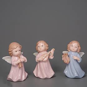 """Фарфоровые фигурки """"Ангелочки"""" 3 шт 9 см (003D-004D-005D)"""