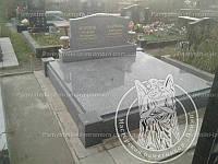 Двойное надгробие из серого гранита №68