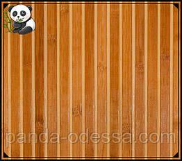 "Бамбукові шпалери ""Зебра коричнева 1+1"" 0,9 м, ширина планки 17/5 мм / Бамбукові шпалери"