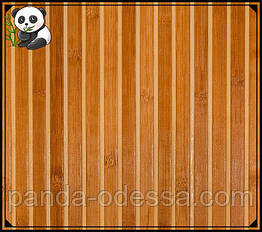 "Бамбуковые обои ""Зебра коричневая 1+1""  0,9 м, ширина планки 17/5 мм / Бамбукові шпалери"