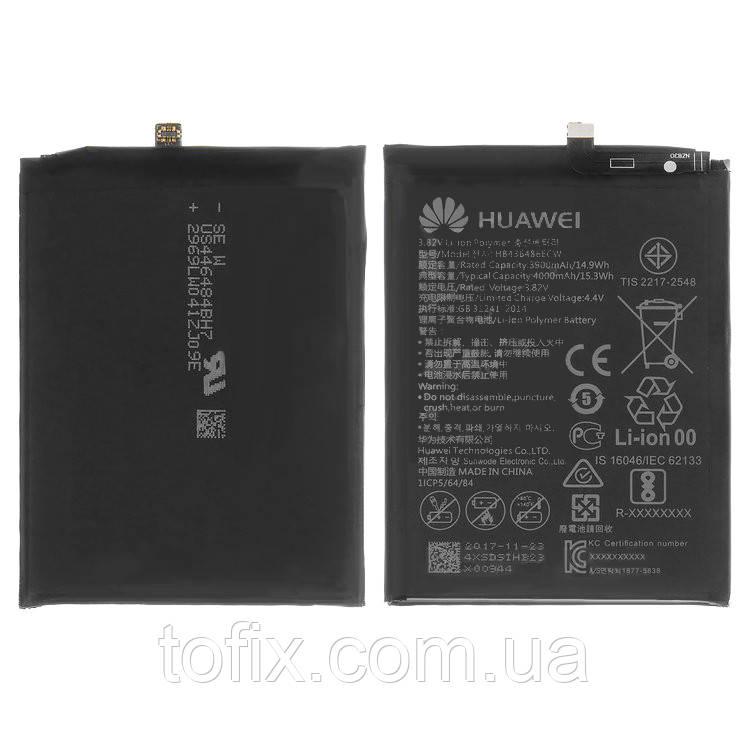 Батарея (акб, аккумулятор) HB436486ECW для Huawei Mate 10 Pro, Li-Pol, 4000 mah, оригинал